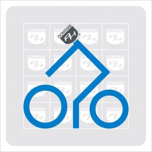 Ryba czarny tusz parking dla rowerów turystyka rowerowa goście na rowerach szlak turystyczny autor Henryk Jan Dominiak