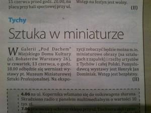 MEDIA o Muzeum Tygodnik Echo – Sztuka w miniaturze