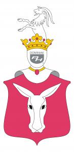logo PÓŁKOZIC, Połukoza, Oślagłowa polski herb szlachecki - autor Henryk Jan Dominiak 2019