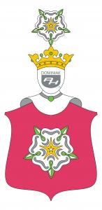 logo PORAJ, Róża polski herb szlachecki - autor Henryk Jan Dominiak 2019