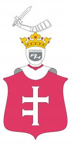 Dama Prus 1 (Półtora Krzyża) polski herb szlachecki - autor Henryk Jan Dominiak 2019
