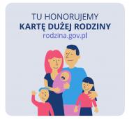KDR Tu honorujemy Karte Duzej Rodziny, dziecko, mama, tata, brat, siostra, Tychy, Polska. trzy plus