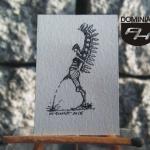 RYS124 – JAK LAŁA HUSARIA 2015 Wojtek (Wojciech) Łuka - wymiar: 2,71 cm x 4,10 cm.