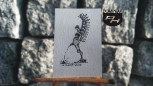 hera materia RYS124 – JAK LAŁA HUSARIA 2015 Wojtek (Wojciech) Łuka - wymiar: 2,71 cm x 4,10 cm.