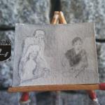 RYS87 – RODZINNE ŚNIADANIE 2014 Natalia Hirsz - wymiar: 3,73 cm x 2,85 cm.