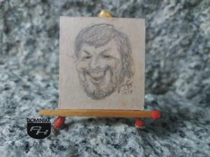 Autoportret karykatura rysunek ołówkiem 3,10 cm x 3,30 cm autor Volodymyr Goncharenko 2014