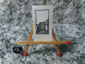 Chaty na Kresach rysunek tuszem 1,48 cm x 2,70 cm autor Robert Marek Znajomski 2012