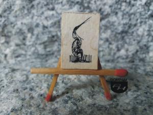 Czapla nr 1 tusz papier 1,70 cm x 2,50 cm autor Robert Marek Znajomski 2012