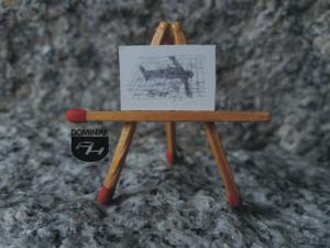 Dlaczego ja rysunek ołówkiem 2,15 cm x 1,52 cm autor Volodymyr Goncharenko 2014