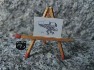 Droga krzyżowa rysunek ołówkiem 2,19 cm x 1,55 cm autor Volodymyr Goncharenko 2014