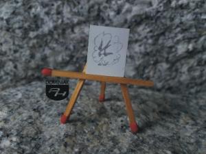 Jaskółka rysunek ołówkiem 1,58 cm x 1,98 cm autor Volodymyr Goncharenko 2014