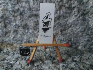 Key nr 3 rysunek tuszem 1,31 cm x 3,65 cm autor Robert Marek Znajomski 2014