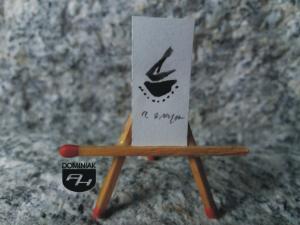 Key nr 5 rysunek tuszem 1,32 cm x 2,91 cm autor Robert Marek Znajomski 2014