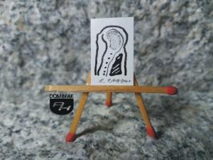 Key nr 7 rysunek tuszem 1,49 cm x 2,24 cm autor Robert Marek Znajomski 2014