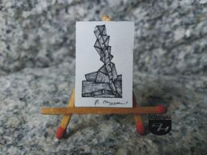 Key nr 9 grafika 2,50 cm x 2,95 cm autor Robert Marek Znajomski 2014
