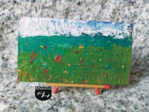 Kwiaty na łące obraz olejny 7,39 cm x 4,15 cm autor Robert Marek Znajomski 2012