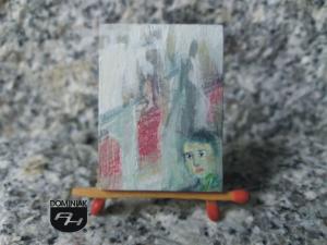 Obojętność obraz olejny 3,10 cm x 4,10 cm autor Justyna Weronika Bruj 2014