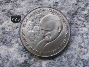 Wojtyła Karol Papież Jan Paweł II z młodzieżą na Światowym Dniu Młodzieży awers