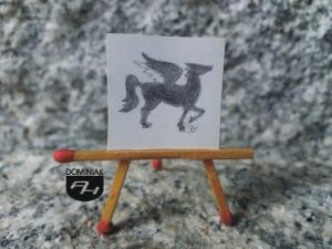 Pegaz rysunek ołówkiem 2,45 cm x 2,45 cm autor Volodymyr Goncharenko 2014
