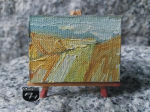 Pole nr 1 obraz olejny 4 cm x 3 cm autor Paweł Brodzisz 2013
