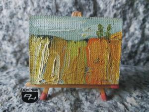 Pole nr 2 obraz olejny 4 cm x 3 cm autor Paweł Brodzisz 2013