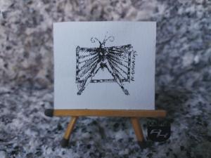 Polot rysunek tuszem 3,65 cm x 3,40 cm autor Wojtek Łuka 2015