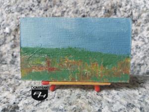 Stepy akermańskie obraz olejny 7,01 cm x 3,95 cm autor Robert Marek Znajomski 2012