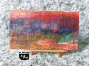 Szuwary o zachodzie Słońca obraz olejny 6,89 cm x 3,91 cm autor Robert Marek Znajomski 2012