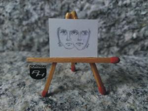 Teatr rysunek ołówkiem 2,29 cm x 1,85 cm autor Volodymyr Goncharenko 2014
