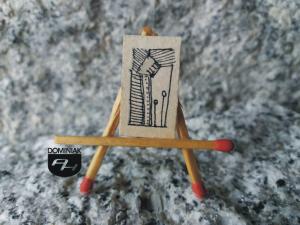 Wieczorny spacer rysunek tuszem 1,41 cm x 2,48 cm autor Robert Marek Znajomski 2012