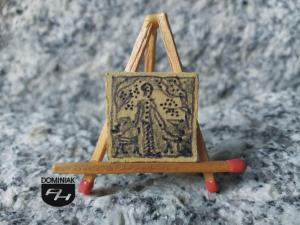 Z psami rysunek akrylem tuszem 2,00 cm x 2,00 cm autor Justyna Neyman 2013