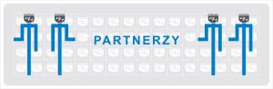 partnerzy koledzy firmy przyjazne sponsorzy darczyńcy bratnia dusza