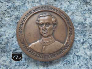 KS. NORBERT BONCZYK 1837-1893 ZASŁUŻENI ŚLĄZACY sygnatura VCA 69,8 x 69,8 cm rewers