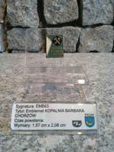 Kopalnia Barbara Chorzów emblemat cywilny grantem związków zawodowych J63 / EMB63 KOPALNIA BARBARA CHORZÓW / 1976 / 1063