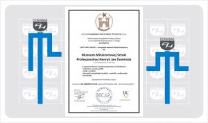 Muzeum Dominiak CERTYFIKAT JAKOŚCI - Europejska Gwiazda Obiekt Historyczny EG 2020 -1
