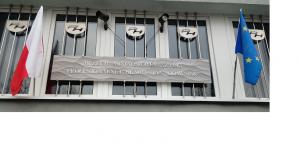 Tablica informacyjna z nazwą placówki ze stali nierdzewnej NEON / MIANO / Szyld Muzeum DOMINIAK AH™.