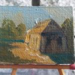 MAL32 – SYNAGOGA w ŁĘCZNEJ 2014 Paweł Brodzisz wymiar: 4,0 cm x 3,0 cm.