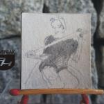 RYS86 – KOBIETA Z PEJCZEM 2014 Natalia Hirsz - wymiar: 3,30 cm x 3,60 cm.
