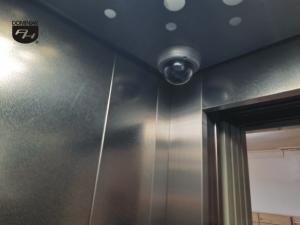 System kamer winda klatka 8 10 12 w budynku z Muzeum Miniaturowej Sztuki Profesjonalnej Henryk Jan Dominiak w Tychach podmiot publiczny