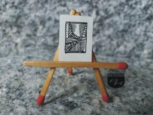 Dukt leśny tusz papier 1,41 cm x 1,95 cm autor Robert Marek Znajomski 2012