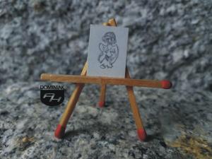Dziewica rysunek ołówkiem 1,31 cm x 1,75 cm autor Volodymyr Goncharenko 2014