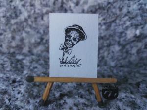 Elegant rysunek tuszem 2,28 cm x 2,90 cm autor Wojtek Łuka 2015