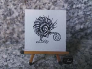 Elokwencja rysunek tuszem 3,78 cm x 3,80 cm autor Wojtek Łuka 2015