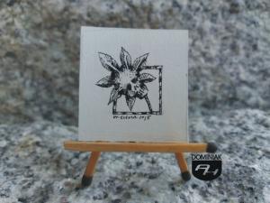 Florysta rysunek tuszem 3,15 cm x 3,28 cm autor Wojtek Łuka 2015