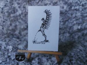 Jak lała husaria rysunek tuszem 2,71 cm x 4,10 cm autor Wojtek Łuka 2015