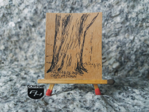 Kasztanowiec rysunek tuszem 3,26 cm x 3,90 cm autor Adam Korszun 2015