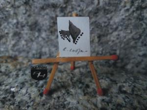 Key nr 12 rysunek tuszem 1,62 cm x 2,03 cm autor Robert Marek Znajomski 2014