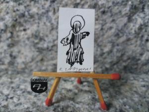 Key nr 4 rysunek tuszem 1,85 cm x 3,19 cm autor Robert Marek Znajomski 2014