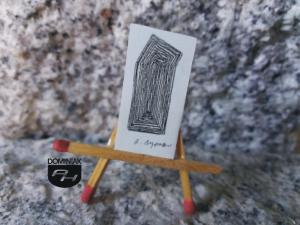 Key nr 5 grafika 1,70 cm x 3,20 cm autor Robert Marek Znajomski 2014