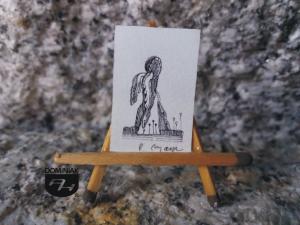 Key nr 6 grafika 1,90 cm x 2,80 cm autor Robert Marek Znajomski 2014